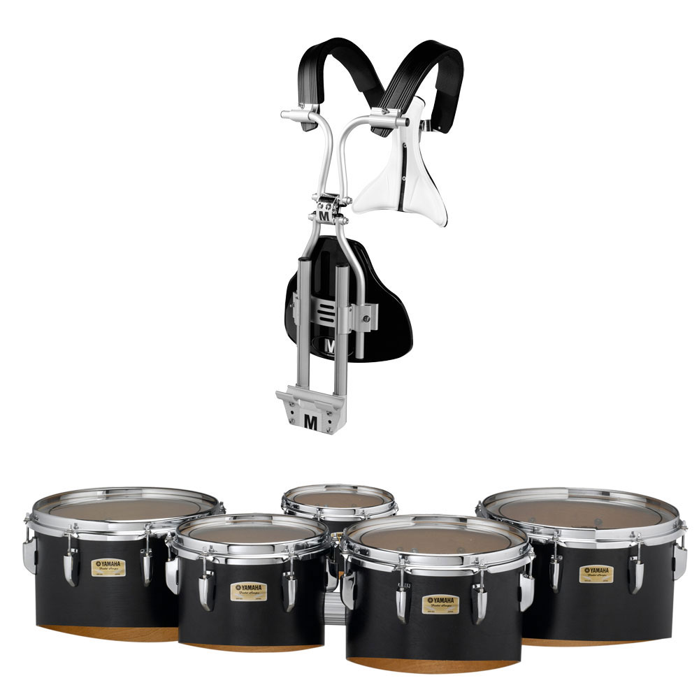 "Yamaha 6-10-12-13-14"" 8300 Field-Corps Marching Tenors with BiPosto Carrier"
