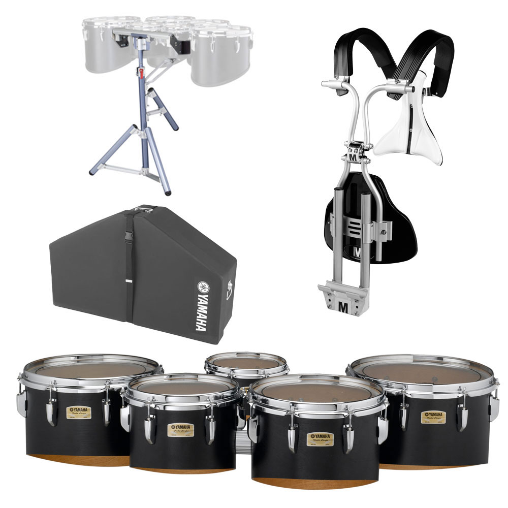 "Yamaha 6-10-12-13-14"" 8300 Field-Corps Marching Tenors with BiPosto Carrier, Case, and Stand"