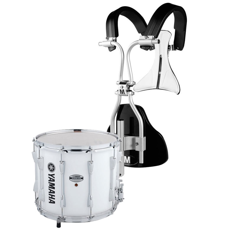 "Yamaha 13"" (Diameter) x 11"" (Deep) Power-Lite Drum/Carrier Marching Snare Drum Bundle"