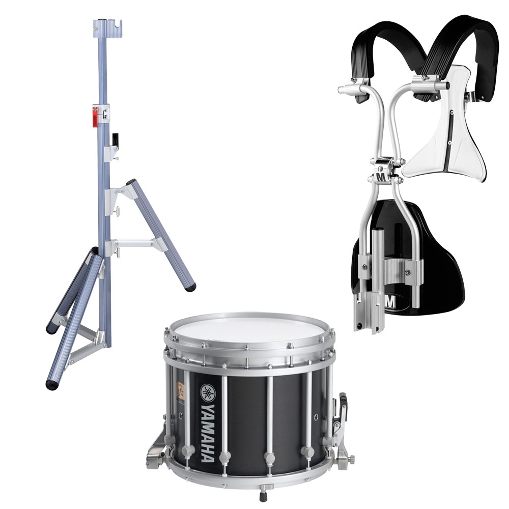 "Yamaha 13"" (Diameter) x 11"" (Deep) 9300 SFZ Marching Snare Drum with MonoPosto Carrier and Stand"