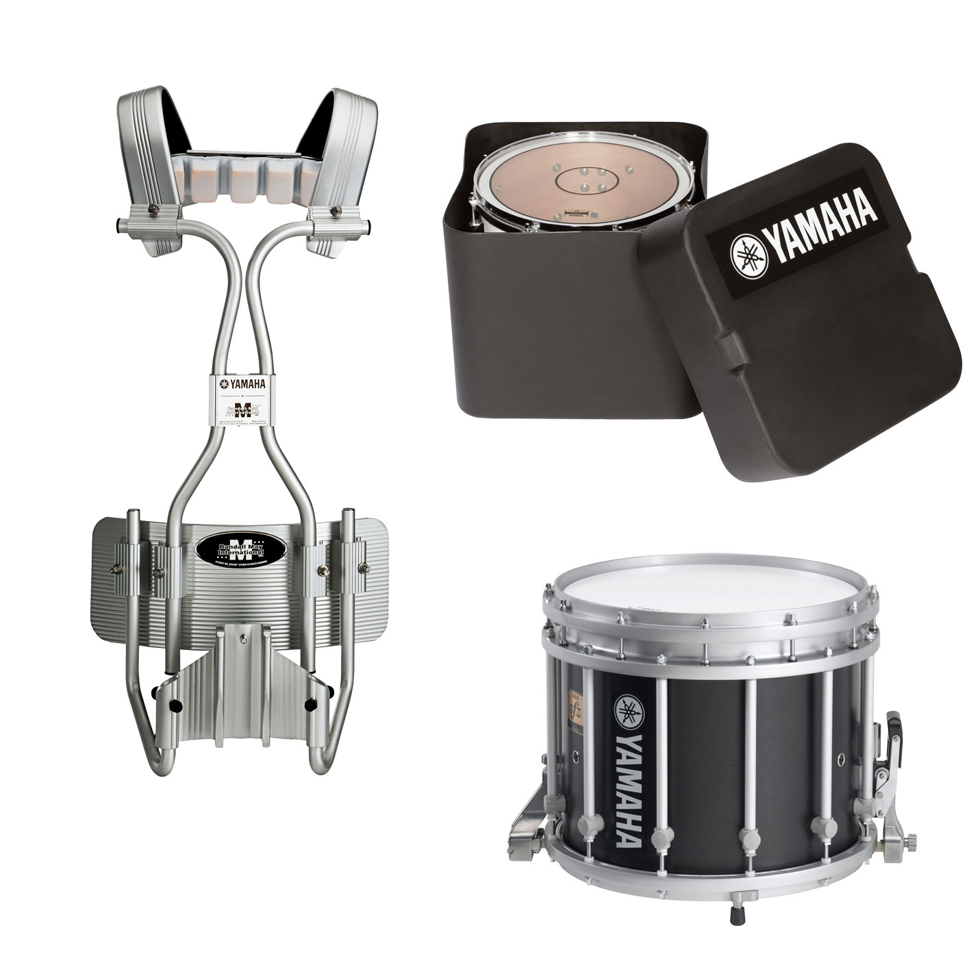 "Yamaha 13"" (Diameter) x 11"" (Deep) 9300 SFZ Marching Snare Drum with Tube Carrier and Case"