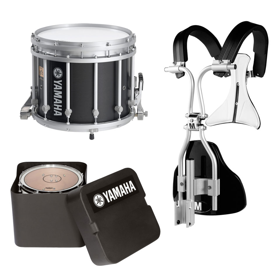 "Yamaha 14"" (Diameter) x 12"" (Deep) 9300 SFZ Marching Snare Drum with MonoPosto Carrier and Case"