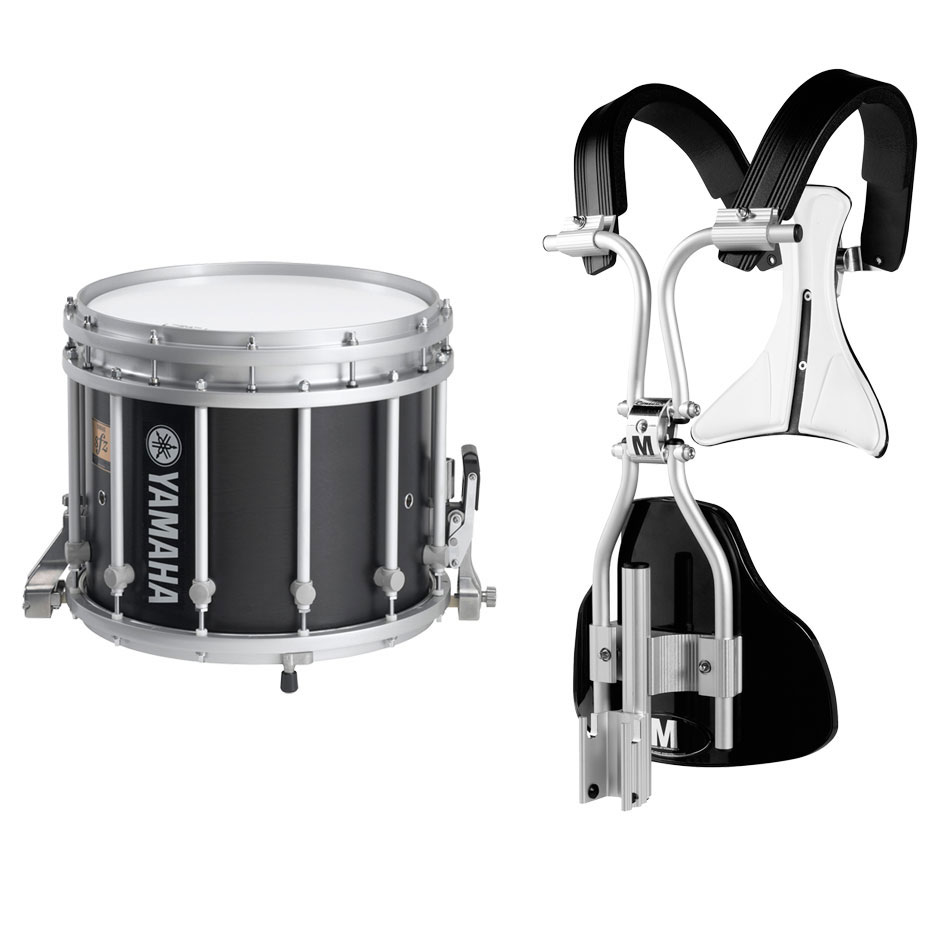 "Yamaha 14"" (Diameter) x 12"" (Deep) 9300 SFZ Marching Snare Drum with Chrome Hardware and MonoPosto Carrier"