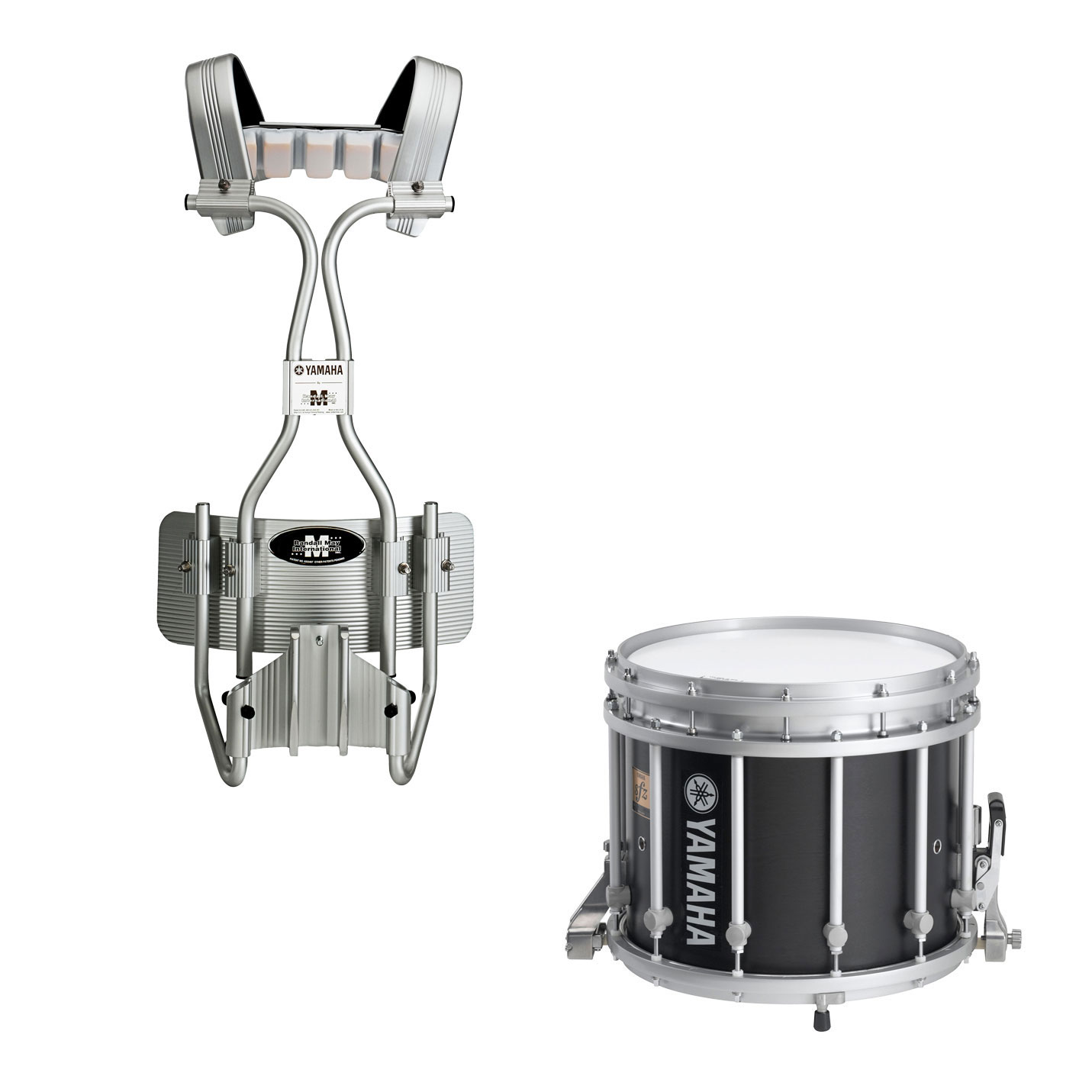 "Yamaha 14"" (Diameter) x 12"" (Deep) 9300 SFZ Marching Snare Drum with Chrome Hardware and Tube Carrier"