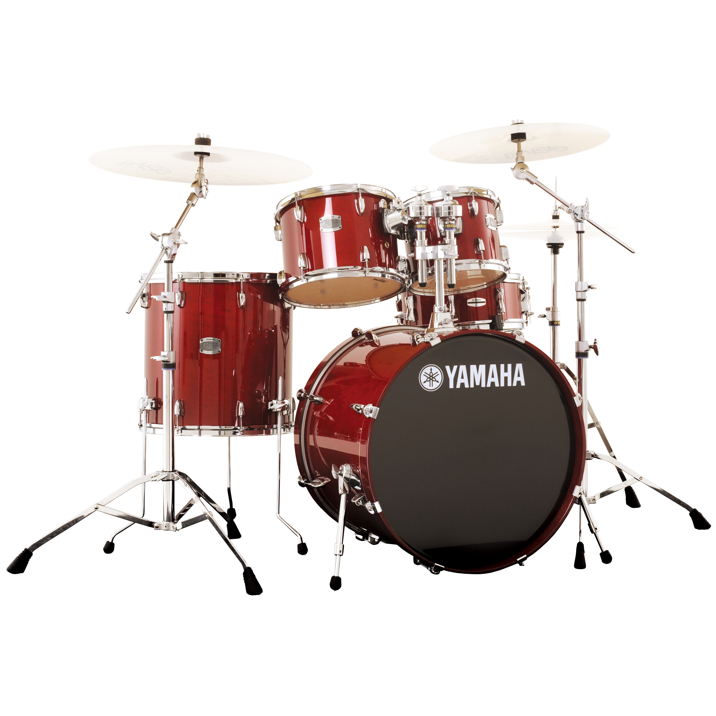 "Yamaha Stage Custom 5-Piece Rock Drum Set with HW-680W Hardware Pack (20"" Bass, 10/12/14"" Toms, 14"" Snare)"