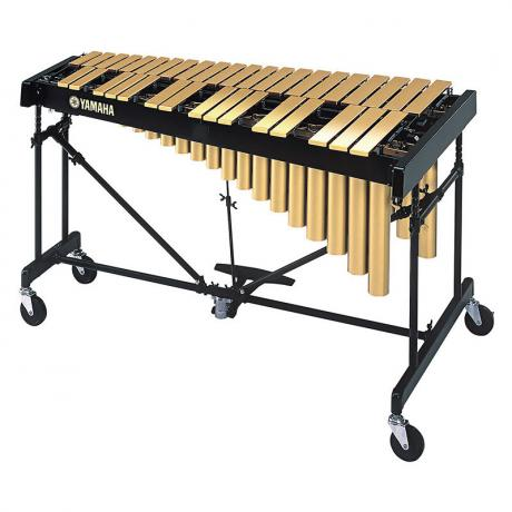 Yamaha 3 Octave Professional Gloss Gold Tour Vibraphone with Cover and Soft Cases