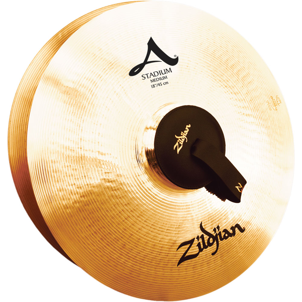 "Zildjian 18"" A Stadium Medium Hand Crash Cymbal Pair"