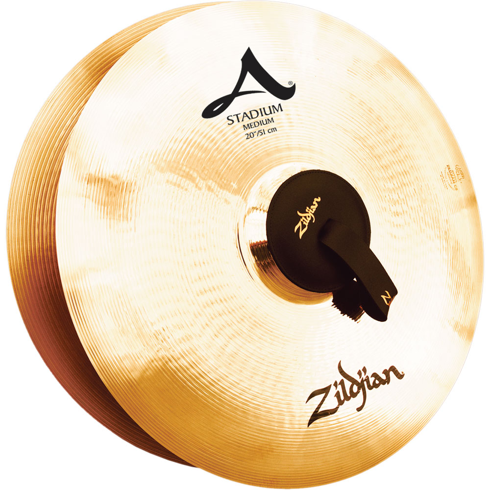 "Zildjian 20"" A Stadium Medium Hand Crash Cymbal Pair"