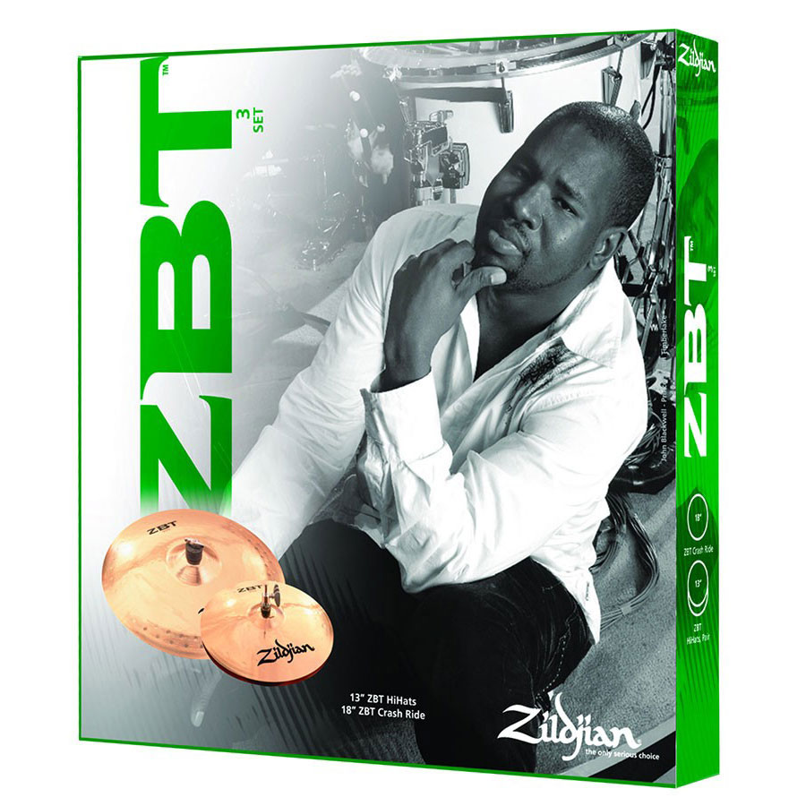 Zildjian ZBT 3-Piece Cymbal Box Set (Hi Hats, Crash/Ride, FREE Crash)